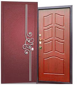 входная дверь с порошковым напылением и ковкой